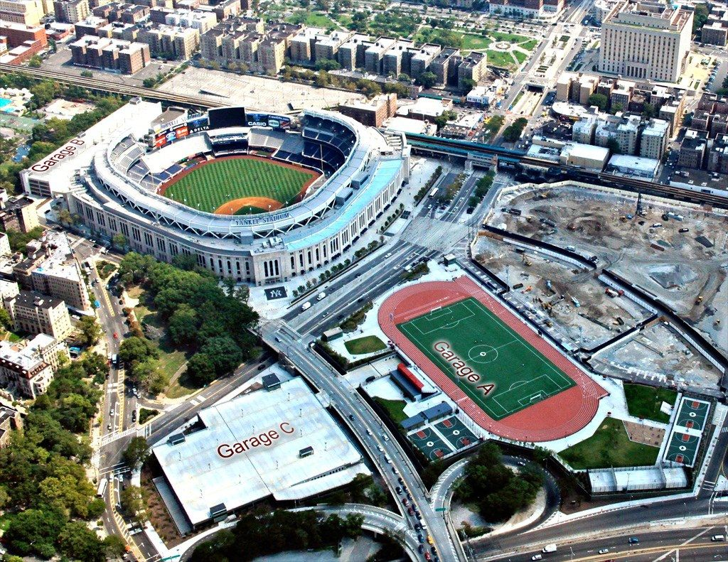 yankee stadium The designers of the new yankee stadium did it smart: they understood that the  most successful team in sports history should have a larger,.